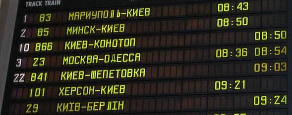 Расписание поездов Укрзалізниця